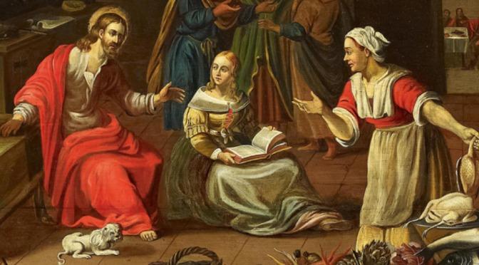 6 out 2020 «Marta recebeu Jesus em sua casa. Maria escolheu a melhor parte»