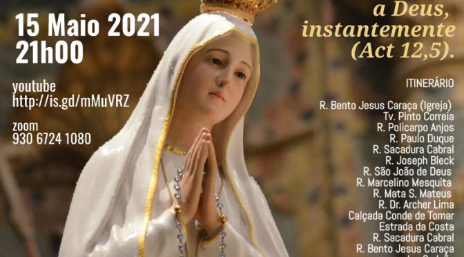 Este Sábado, 15 maio 2021, às 21h00 na vizinha Paróquia da Cruz Quebrada